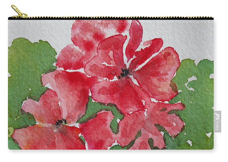 Floral Carry-all Pouch featuring the painting Pzzzazz by Mary Ellen Mueller Legault