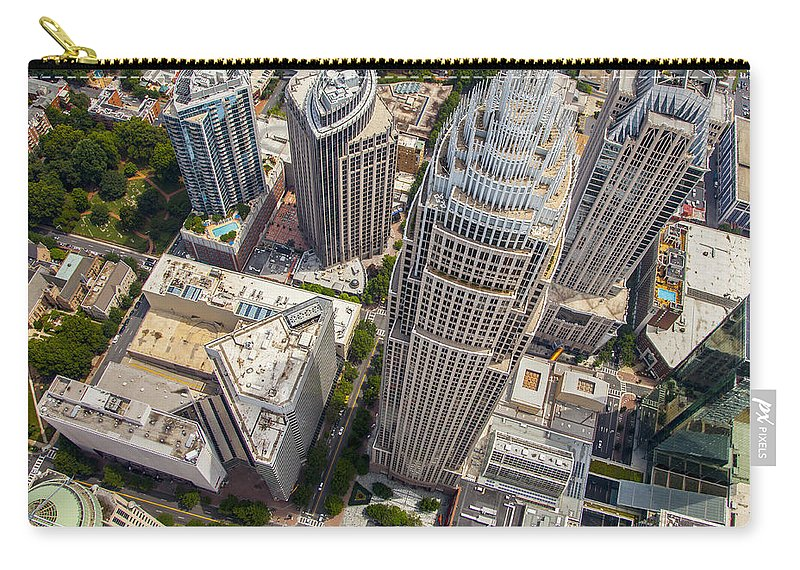 Charlotte Carry-all Pouch featuring the photograph Qc Perspective by Chris Austin