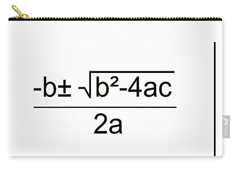 Featured Carry-all Pouch featuring the digital art Quadratic Equation B-w by Paulette B Wright