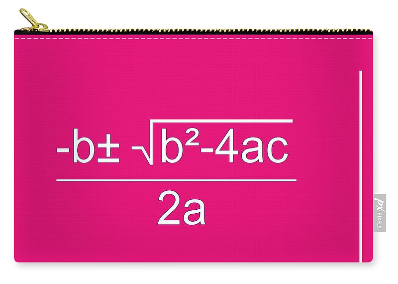 Featured Carry-all Pouch featuring the digital art Quadratic Equation by Paulette B Wright