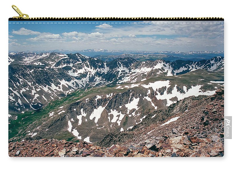 Mountain Peaks Carry-all Pouch featuring the photograph Quandry Peak 14264 by Robert VanDerWal