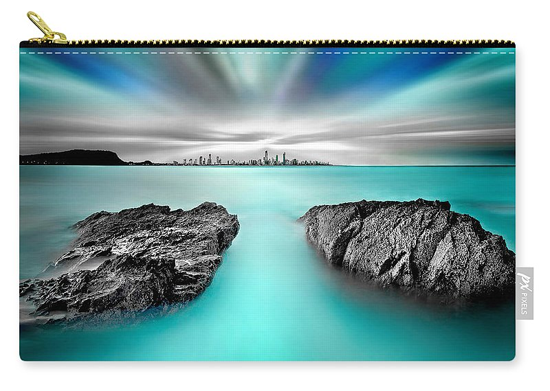 Gold Coast Carry-all Pouch featuring the photograph Quantum Divide by Az Jackson