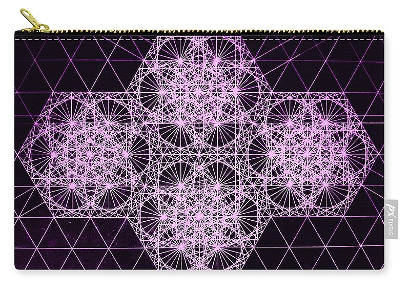 Quantum Carry-all Pouch featuring the drawing Quantum Snowfall by Jason Padgett