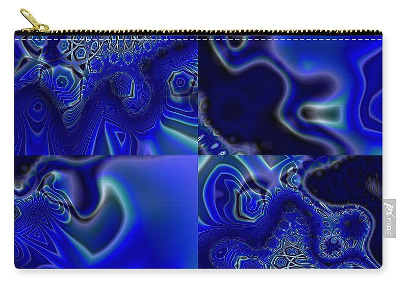 Abstract Carry-all Pouch featuring the digital art Quarters Of Midnight by Judi Suni Hall