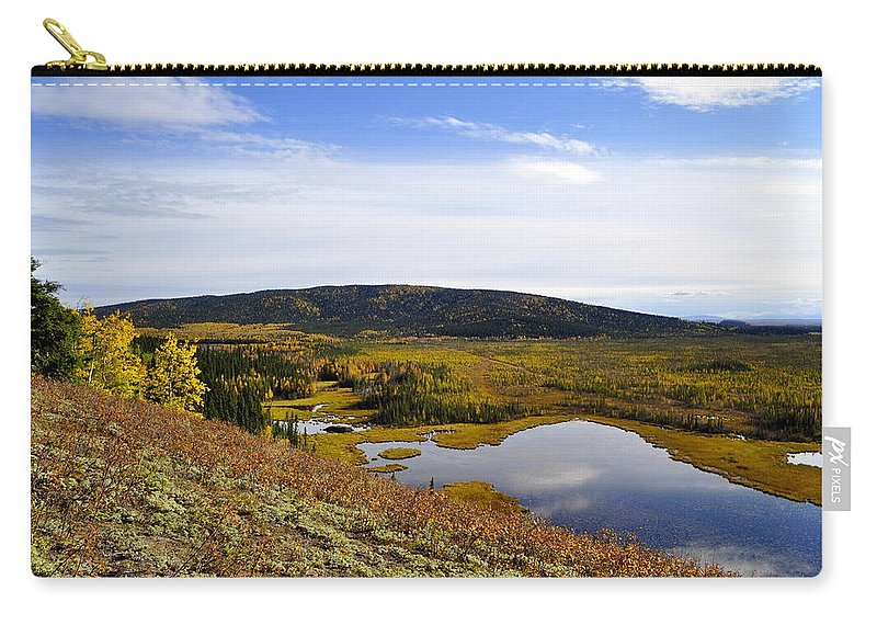 Fall Carry-all Pouch featuring the photograph Quartz Lake Recreation Area by Cathy Mahnke