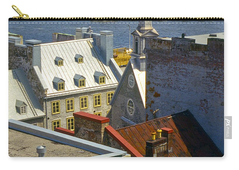 Lower Town Quebec Canada Church Churches Building Buildings Structures Structure Saint St. Lawrence River Rivers Water Architecture City Cities Cityscape Cityscapes Landscape Landscapes Carry-all Pouch featuring the photograph Quebec Lower Town by Bob Phillips