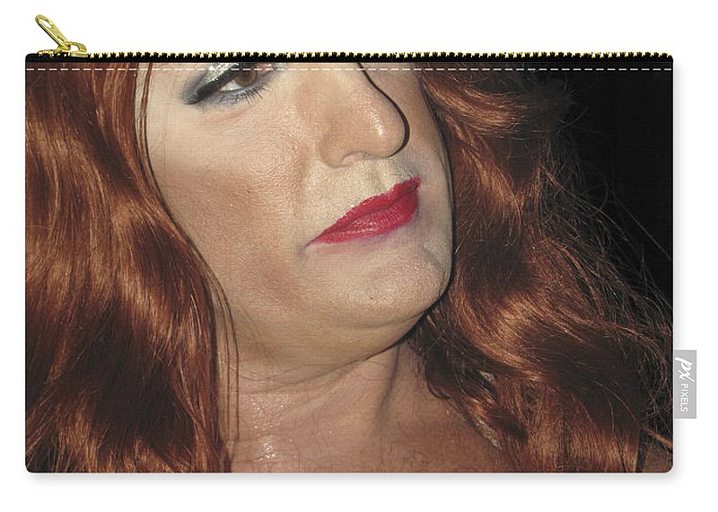 Gay Carry-all Pouch featuring the photograph Portrait Of A Fire Island Queen by Bob Slitzan