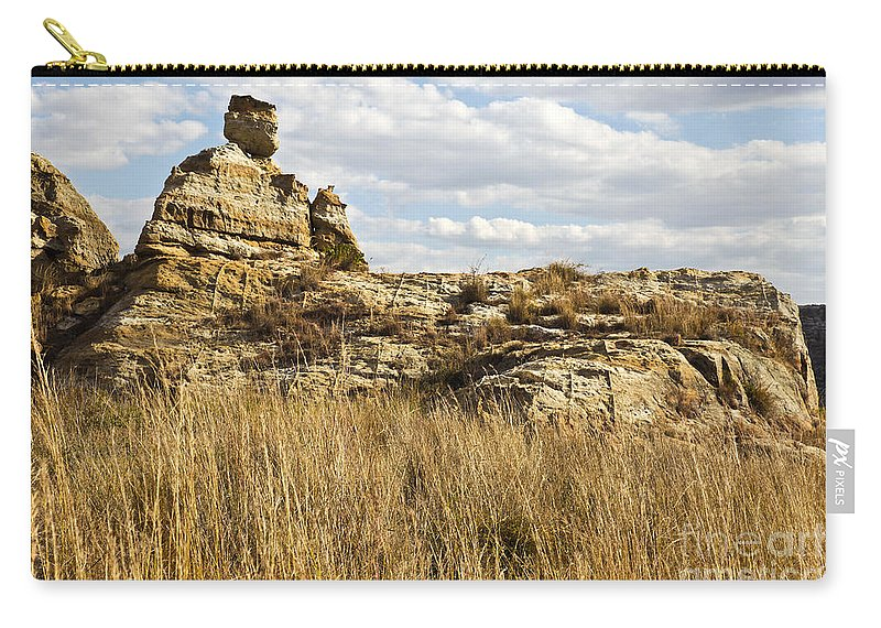 Queen Of Isalo Carry-all Pouch featuring the photograph Queen Of Isalo Madagascar by Liz Leyden