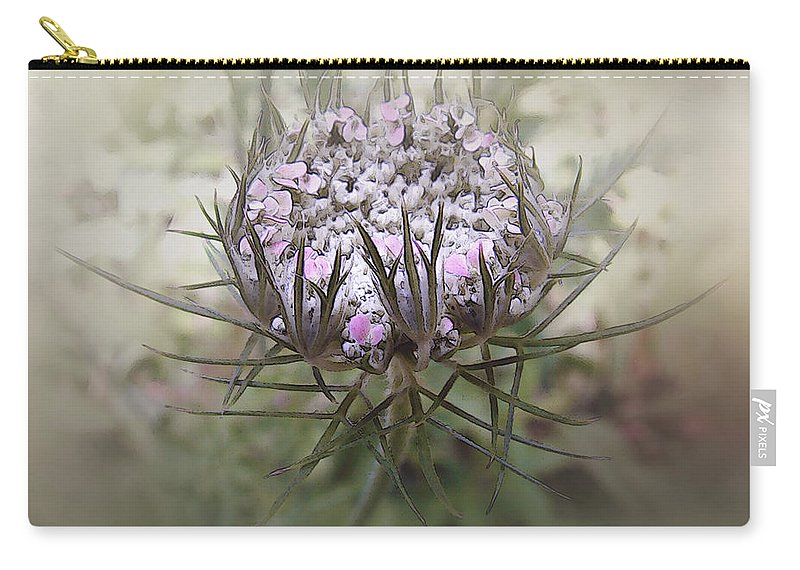 Queen Anne's Lace Carry-all Pouch featuring the digital art Queen Of The Mist by RC DeWinter