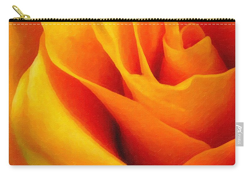 Rose Carry-all Pouch featuring the photograph Queen Rose - Digital Painting Effect by Rhonda Barrett