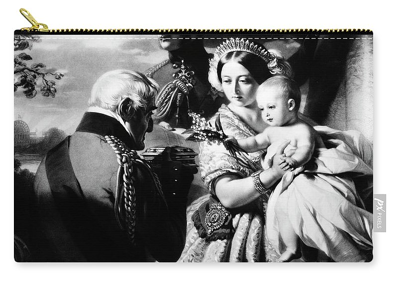 1851 Carry-all Pouch featuring the painting Queen Victoria & Son by Granger