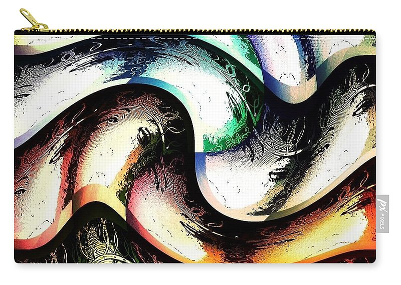 Queen Carry-all Pouch featuring the digital art Queenly by Ann Calvo