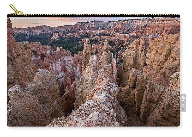 Bryce Canyon Carry-all Pouch featuring the photograph Queen's Garden At Dawn 3 by Greg Nyquist
