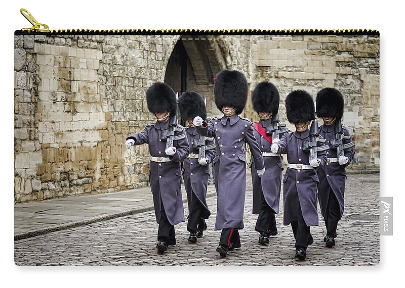 Guard Carry-all Pouch featuring the photograph Queens Guard by Heather Applegate