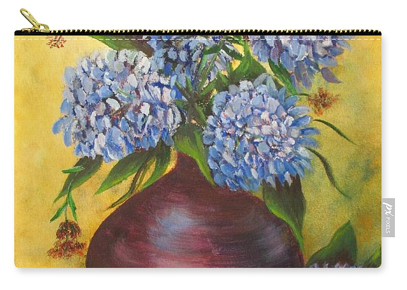 Blue Carry-all Pouch featuring the painting Queens Of Summer by Loretta Luglio