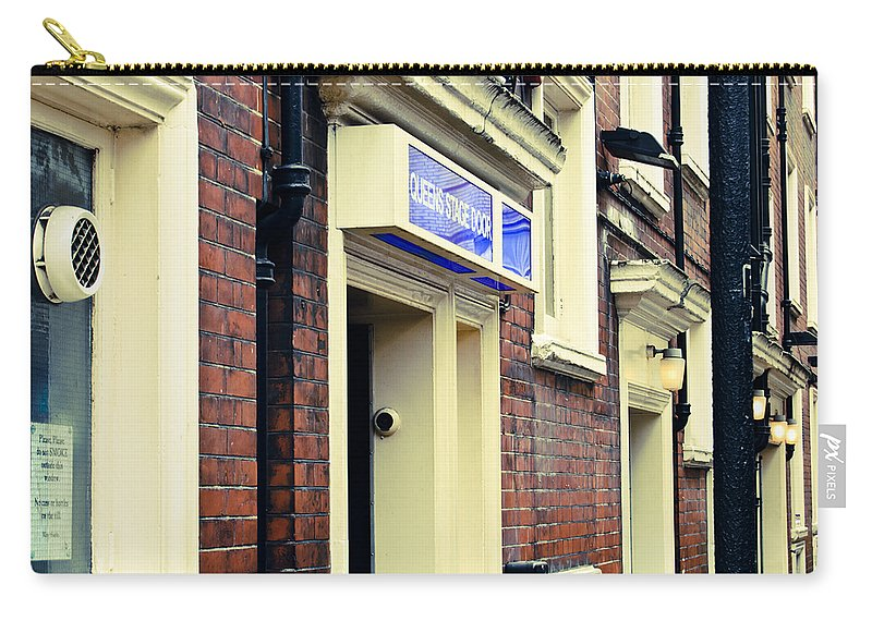 Britain Carry-all Pouch featuring the photograph Queen's Stage Door by Christi Kraft