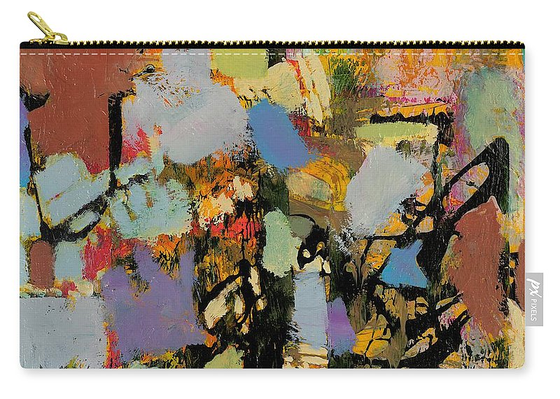 Landscape Carry-all Pouch featuring the painting Quick Racing by Allan P Friedlander