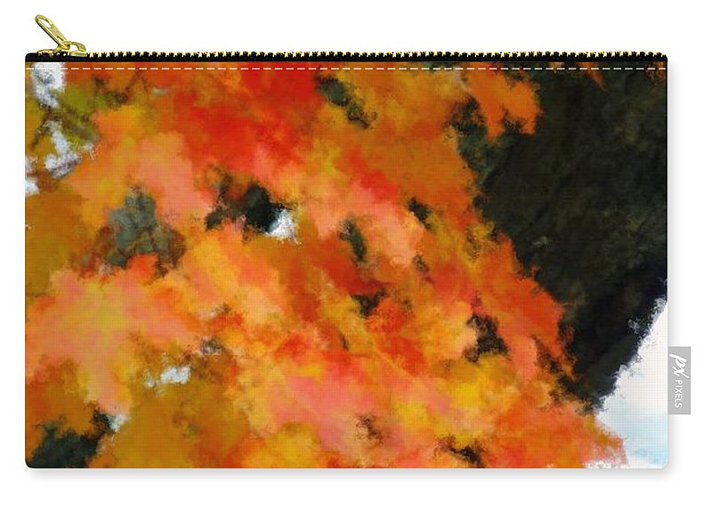 Autumn Carry-all Pouch featuring the painting Quick Take On Autumn by RC DeWinter