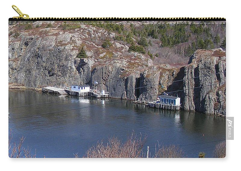 Fishing Village Carry-all Pouch featuring the photograph Quidi Vidi Fishing Stages by Barbara Griffin
