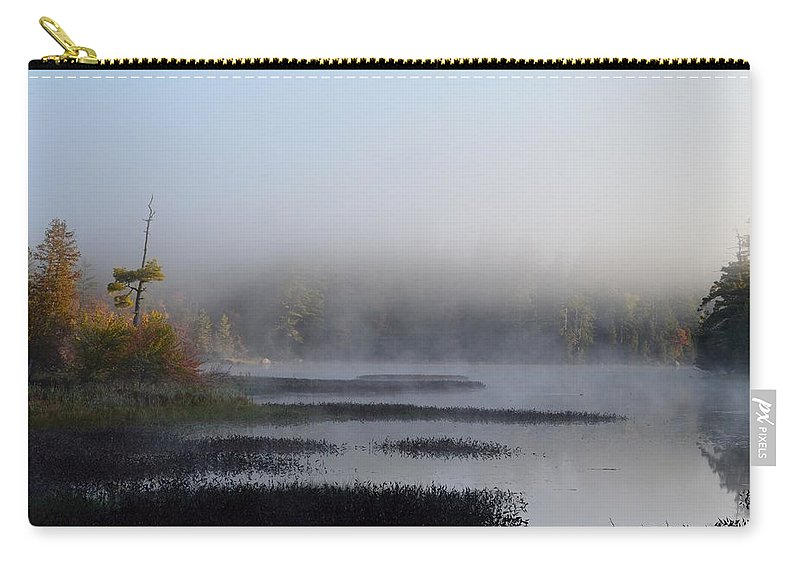 Adirondack Mountains Carry-all Pouch featuring the photograph Quiet Dawn by Thomas Phillips