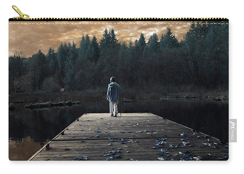 Infrared Carry-all Pouch featuring the photograph Quiet Moments Series by Rebecca Parker