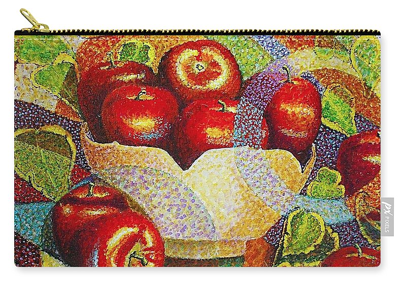 Jaxine Cummins Carry-all Pouch featuring the painting quilted Apples by JAXINE Cummins