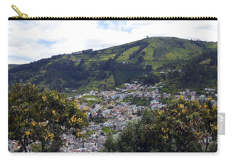 Quito Carry-all Pouch featuring the photograph Quito From El Panecillo by Kurt Van Wagner