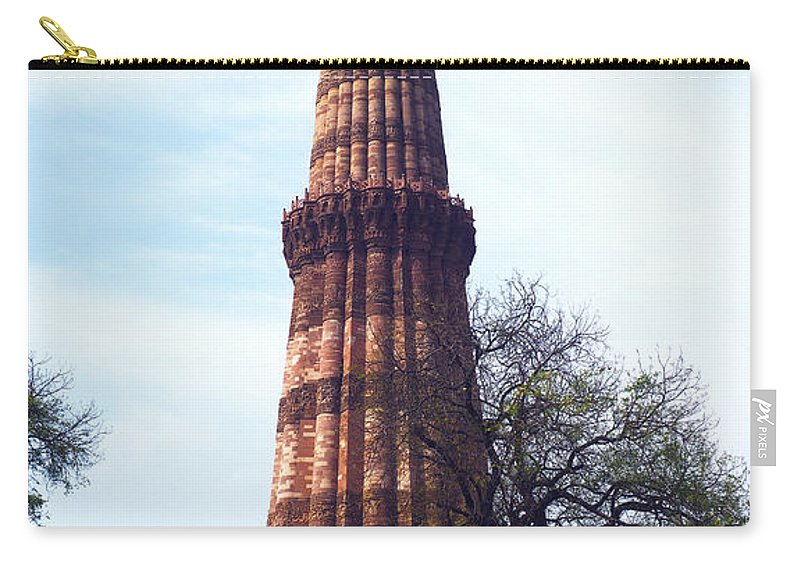Qutb Carry-all Pouch featuring the photograph Qutb Minar by C H Apperson