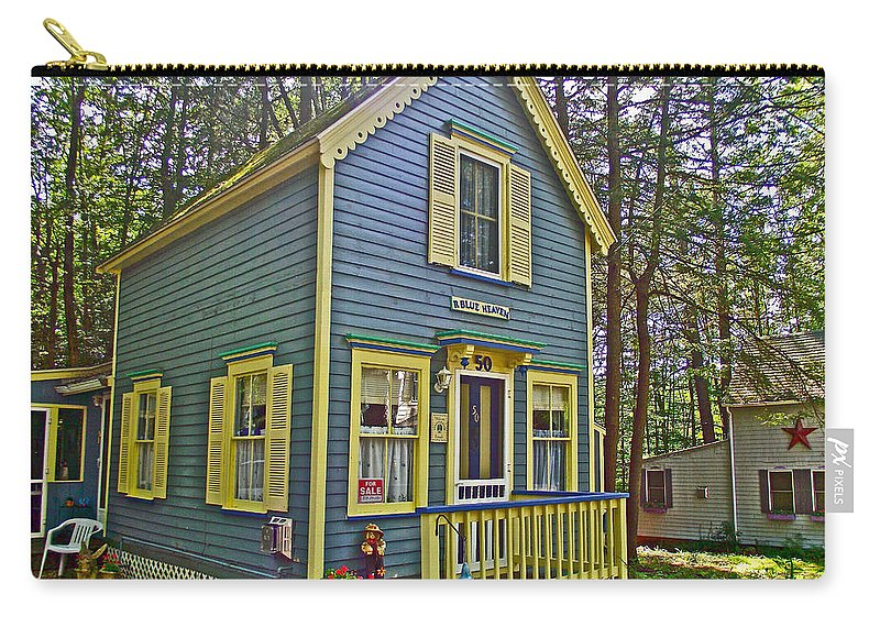 R Blue Heaven In Asbury Grove In South Hamilton Carry-all Pouch featuring the photograph R Blue Heaven In Asbury Grove In South Hamilton-massachusetts by Ruth Hager