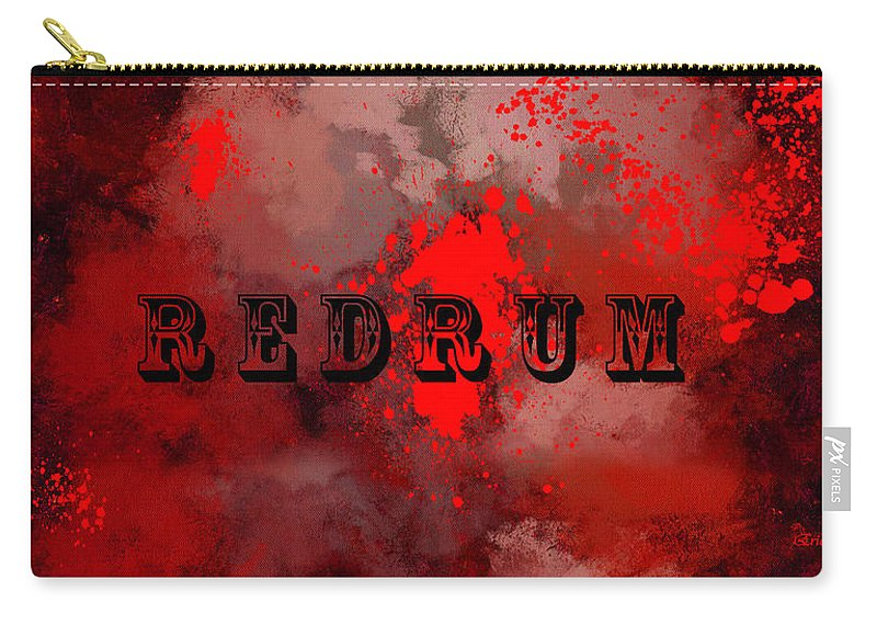 Redrum Carry-all Pouch featuring the painting R E D R U M - Featured In Visions Of The Night Group by Ericamaxine Price