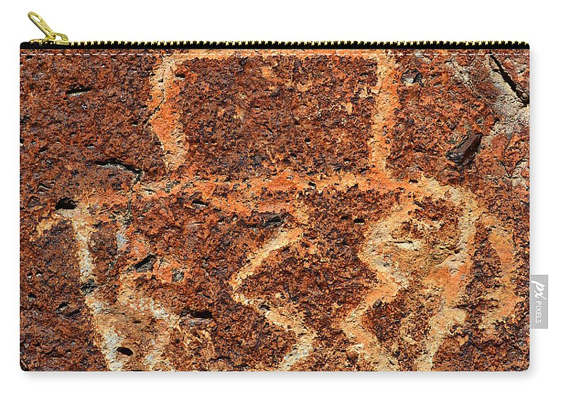 Shaman Carry-all Pouch featuring the photograph Shaman Petroglyph C by David Lee Thompson