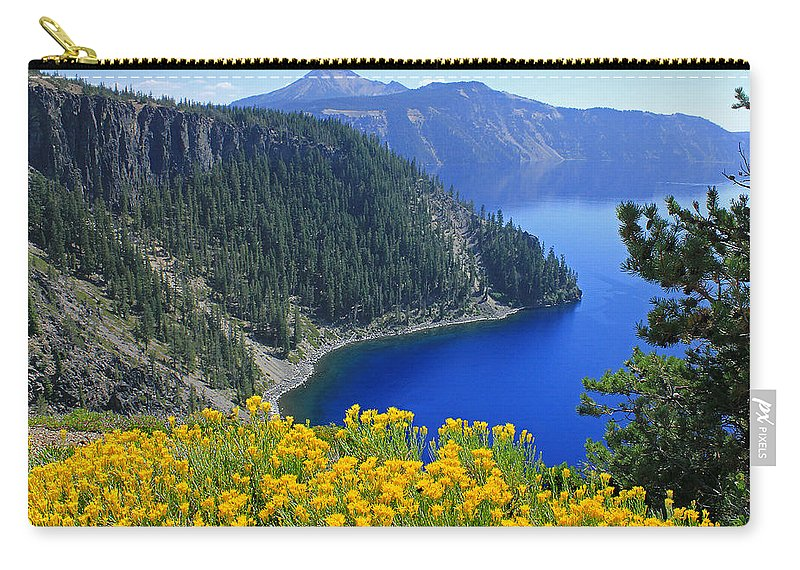 Rabbit Brush Carry-all Pouch featuring the photograph D2m5622-rabbit Brush At Crater Lake by Ed Cooper Photography