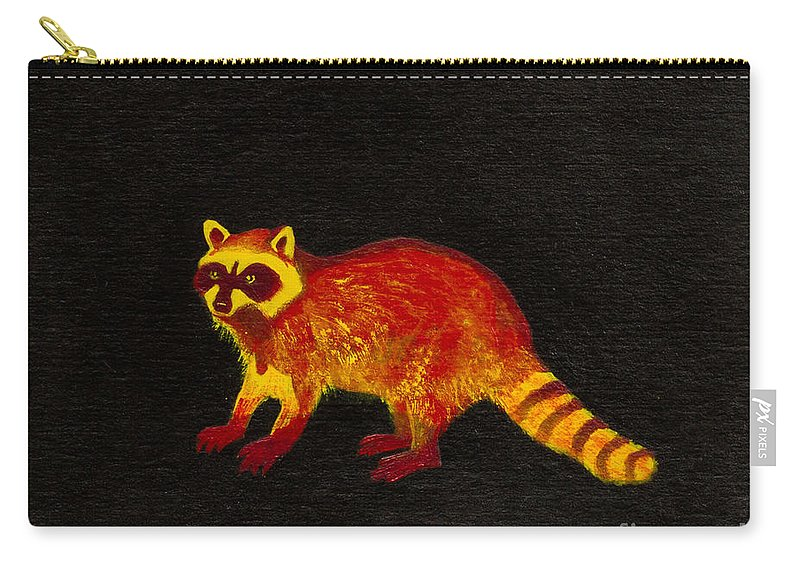 Carry-all Pouch featuring the painting Raccoon by Stefanie Forck