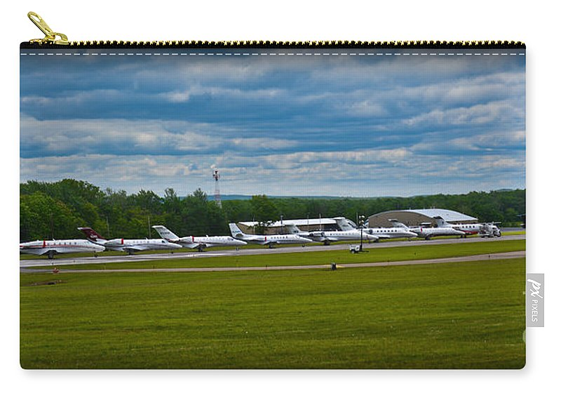 Airport Carry-all Pouch featuring the photograph Race Week 2014 Pocono Airport by Gary Keesler