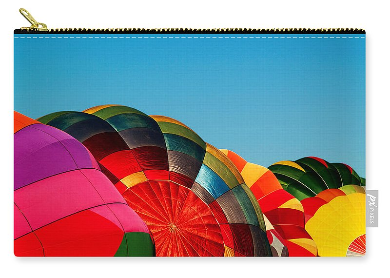 Reno Carry-all Pouch featuring the photograph Racing Balloons by Bill Gallagher