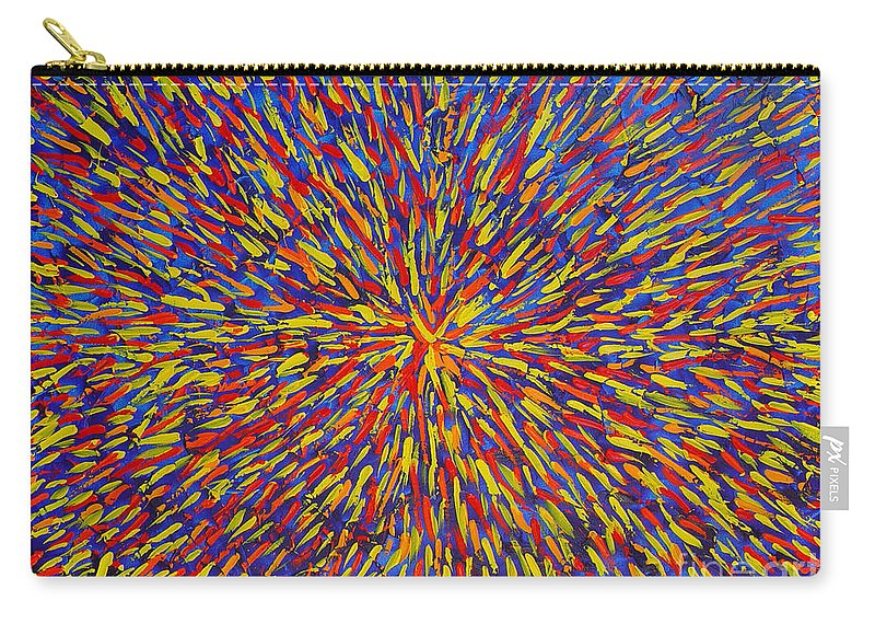 Abstract Carry-all Pouch featuring the painting Radiation Blue by Dean Triolo