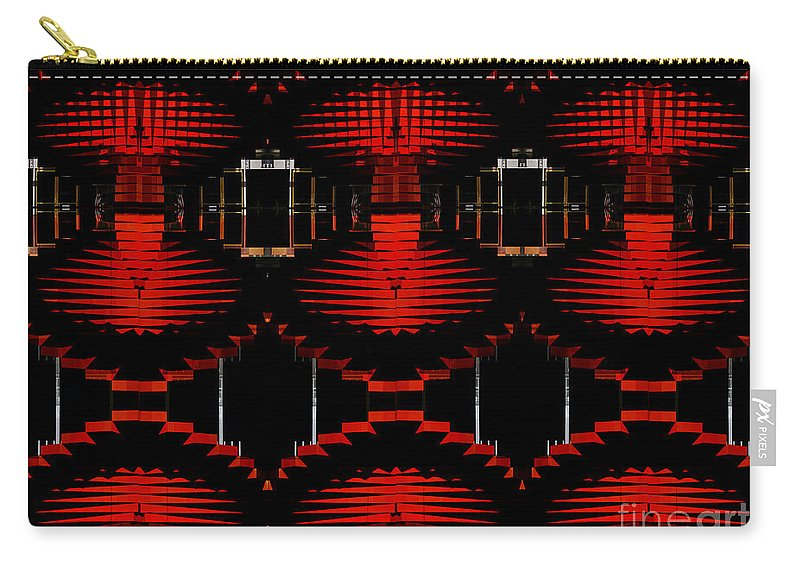 Red Carry-all Pouch featuring the photograph Radiation Dna Glow by Clayton Bruster