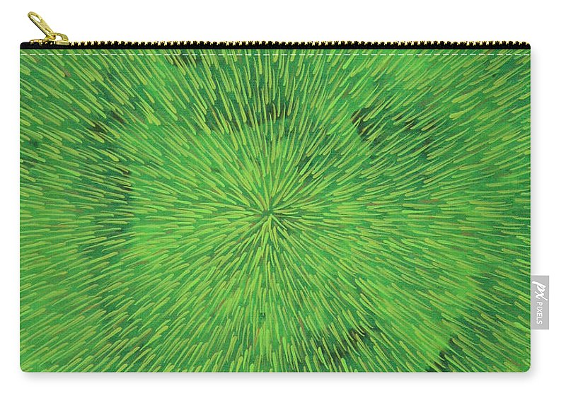Abstract Carry-all Pouch featuring the painting Radiation Green by Dean Triolo