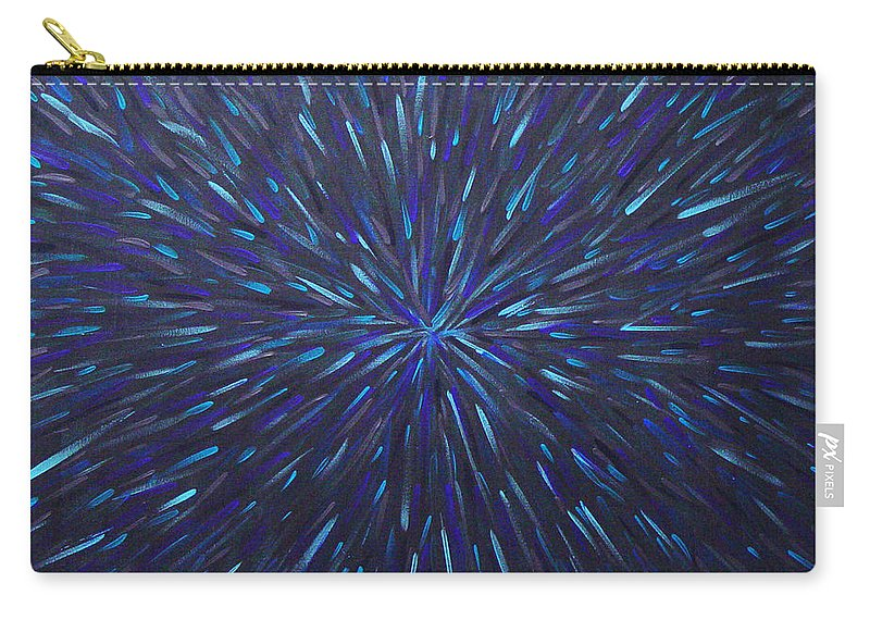 Abstract Carry-all Pouch featuring the painting Radiation Grey by Dean Triolo