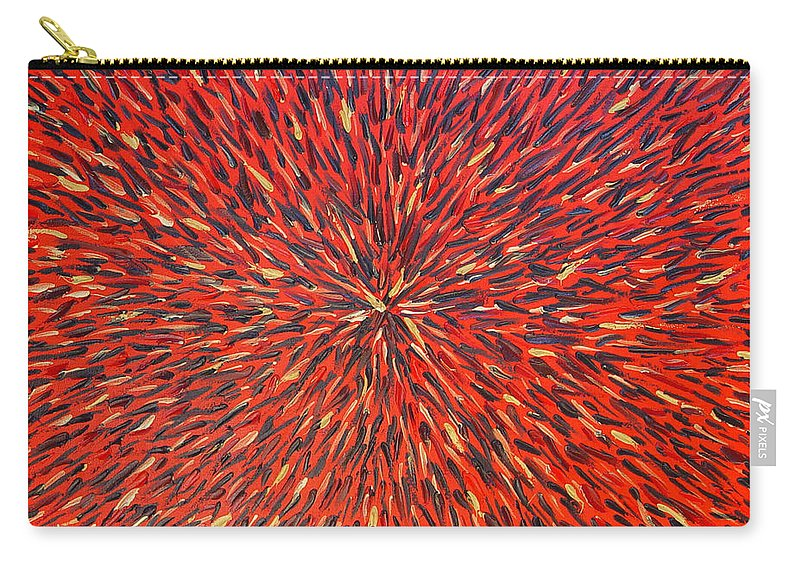 Abstract Carry-all Pouch featuring the painting Radiation Red by Dean Triolo
