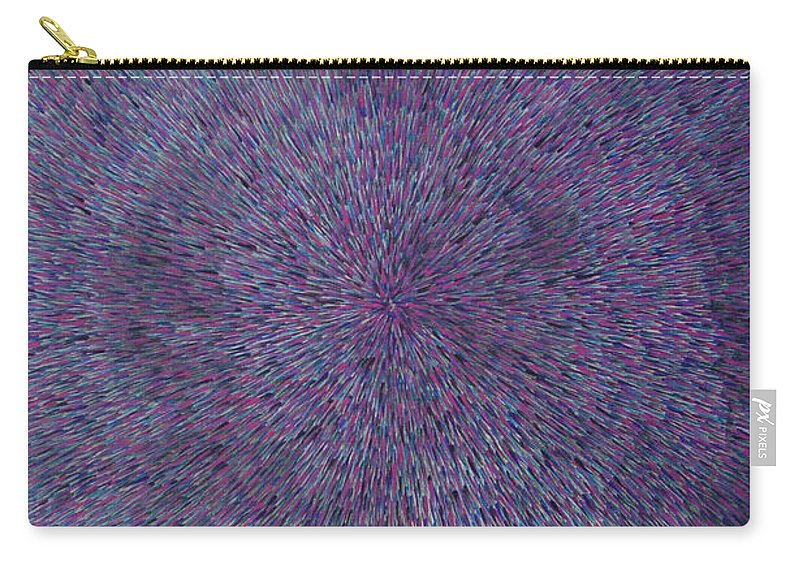Abstract Carry-all Pouch featuring the painting Radiation Violet by Dean Triolo