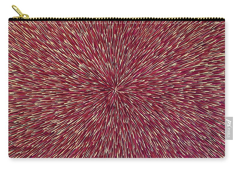 Abstract Carry-all Pouch featuring the painting Radiation With Brown Magenta And Violet by Dean Triolo