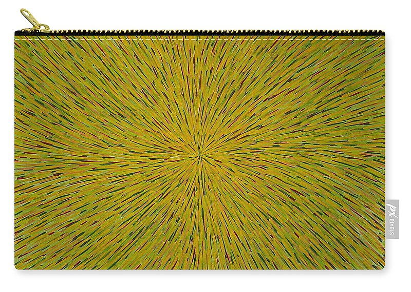 Abstract Carry-all Pouch featuring the painting Radiation With Yellow Green And Red by Dean Triolo