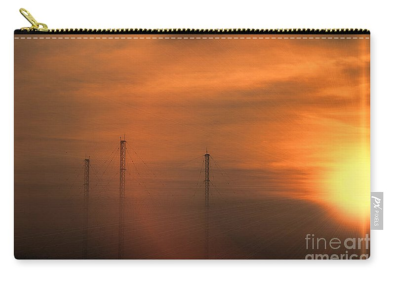 Radio Waves Carry-all Pouch featuring the photograph Radio Waves V2 by Douglas Barnard