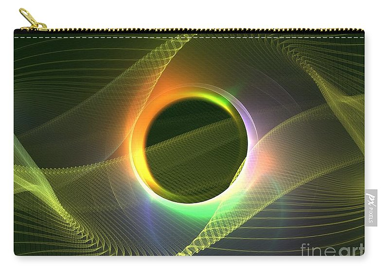 Apophysis Carry-all Pouch featuring the digital art Radiowave by Kim Sy Ok