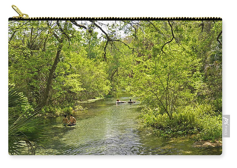 Landscapes Carry-all Pouch featuring the photograph Rafting The Springs by Deborah Good