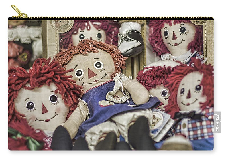 Raggedy Ann And Andy Carry-all Pouch featuring the photograph Raggedy Ann And Andy by Heather Applegate
