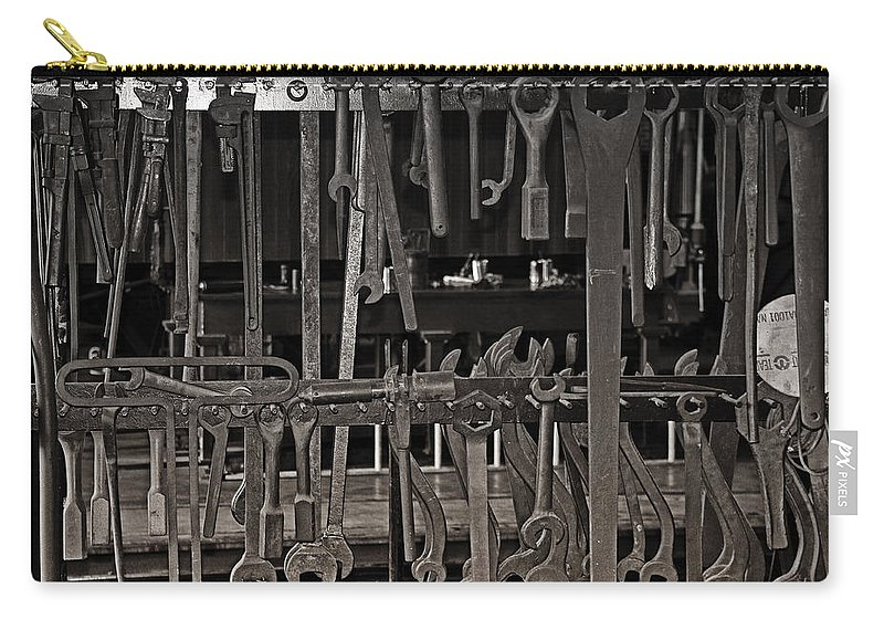 Wrenches Carry-all Pouch featuring the photograph Railroad Wrenches by Debby Richards