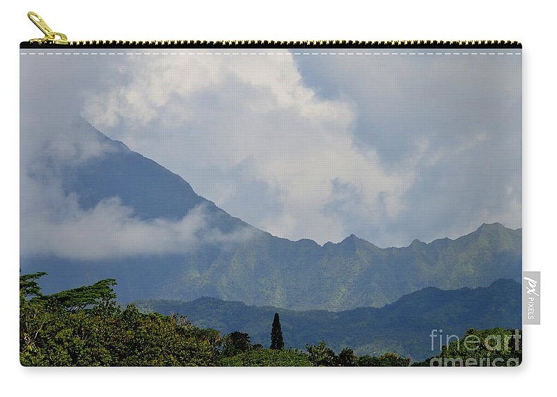 Clouds Carry-all Pouch featuring the photograph Rain Clouds Over The Makalehas by Mary Deal