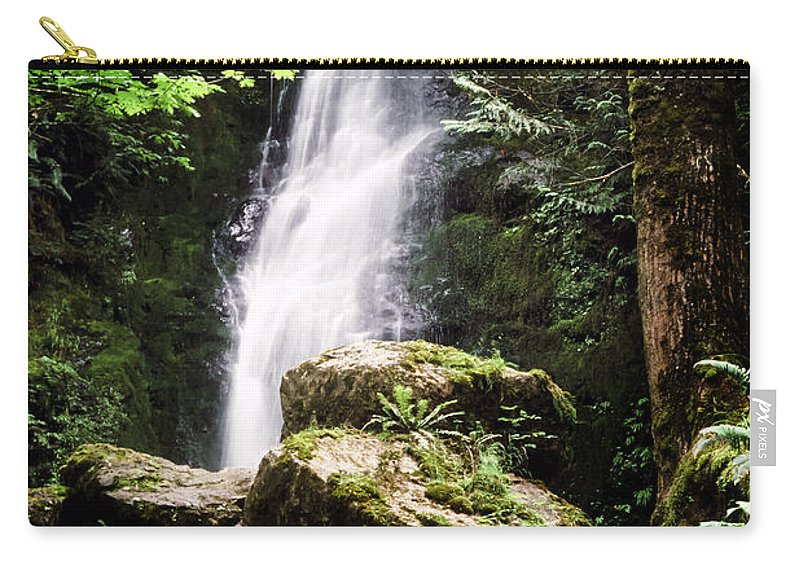 Quinault Carry-all Pouch featuring the photograph Rain Forest Falls by Kelley King